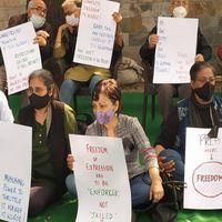 मीडिया और मीडियाकर्मियों के दमन के खिलाफ दिल्ली में पत्रकारों का मौन प्रदर्शन
